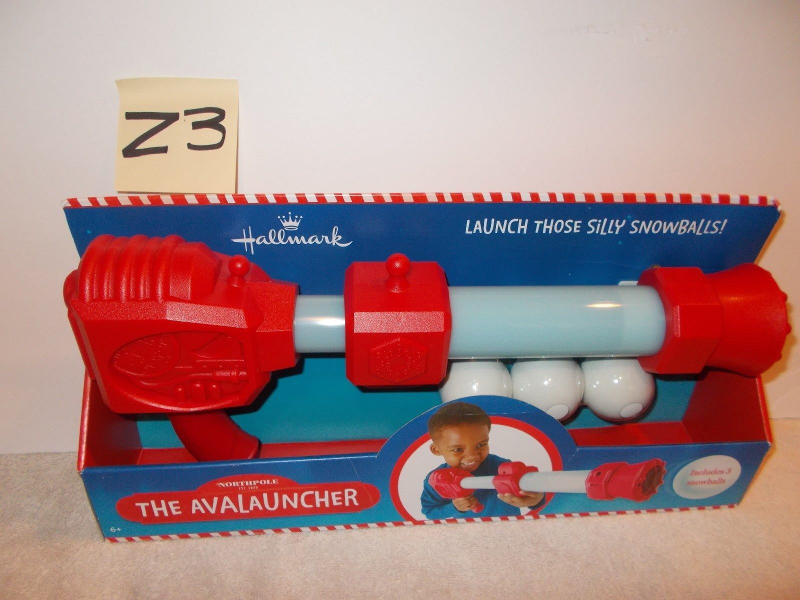 The North Pole Snowball Indoor Avalauncher Includes 3 Snowballs