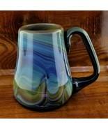 RARE 1981 Alder House Art Glass Coffee Mug Signed BUZZ WILLIAMS Oregon S... - $149.95