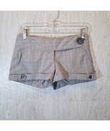 "CHARLOTTE RUSSE Junior Womens Stretch Shorts Size 1 (3"" Inseam) Gray Plaid - $17.19"