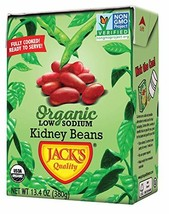 Jack's Organic Kidney Beans – Packed with Protein & Fiber, Heart Healthy, Low So
