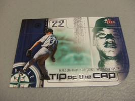 "2002 Fleer Genuine ""TIP OF THE CAP"" Die-Cut Kazuhiro Sasaki -Seattle Mar... - $3.12"
