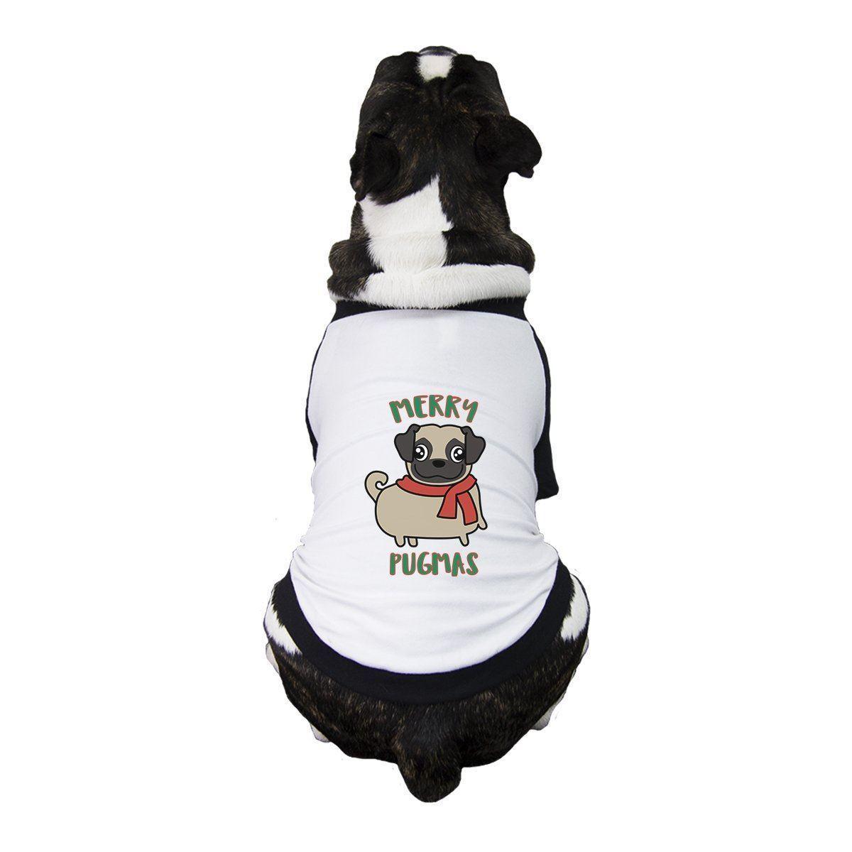 Merry Pugmas Pug Baby White Bodysuit