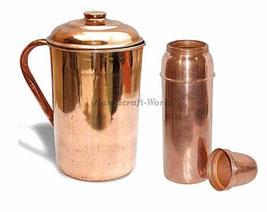 Handicraft-World Pure Copper PlainJug & 850ML Thermos Bottle Combo pack - $64.67