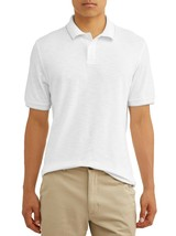 George Men's Short Sleeve Pique Stretch Polo 2XLT 50-52 Arctic White NEW - $14.84