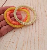 Bead Crochet Bracelets Set, Pastel Color Stackable Summer Bracelets for ... - $17.00+
