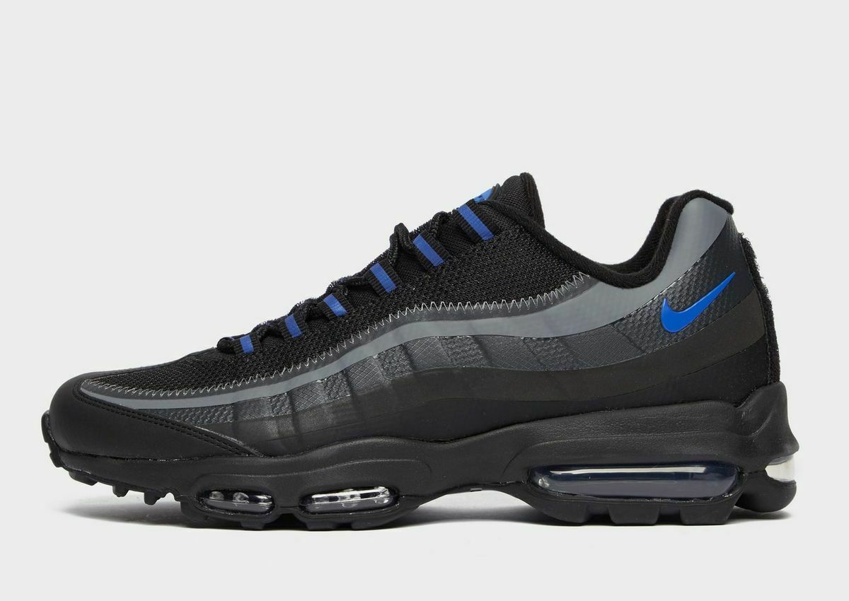 Nike Air Max 95 Ultra Se Black / Grey /Blue Premium Trainers / Shoes