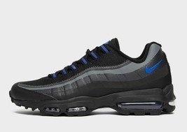 Nike Air Max 95 Ultra Se Black / Grey /Blue Premium Trainers / Shoes - $246.05