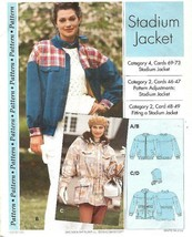 Sewing Step by Step STADIUM JACKET 1994 Misses Sizes 4 - 22 Uncut  - $7.91