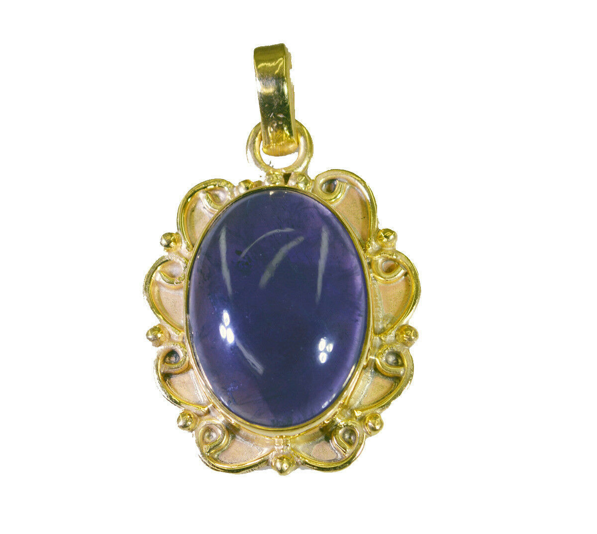 Primary image for pulchritudinous Amethyst Gold Plated Purple Pendant genuine india  US gift