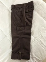 Lee One True Fit Size Medium (10)  Cotton-Polyester Brown Cropped Capris Pants  - $5.94
