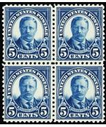 557, Mint 5¢ VF NH Block of Four Stamps Cat $140.00 - Stuart Katz - $75.00