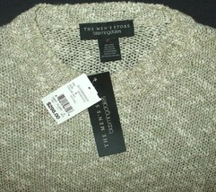 Chunky Crewneck Sweater Natural Beige Knobby Pullover Jumper New Mens XL - $19.75