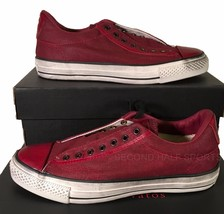 Red Converse 147348C on Slip Canvas Chuck Varvatos Taylor John Sneaker Burnished xxHCqfw6nz