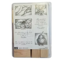 Stampin Up Ageless Adornment Set of 7 rubber stamps 2004 New Moth Pear H... - $16.20