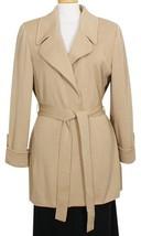 ST. JOHN Carmel Brown Belted Long Wool Blend Santana Knit Jacket 6 NEW - $519.99
