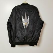 Overwatch Mens Reinhardt Puffer Jacket Coat Large L Black Orange Adult F... - $37.36
