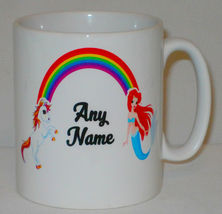 Unless You're A Mermaid Who Rides Unicorns Mug Can Personalise Funny Cute Girl image 3