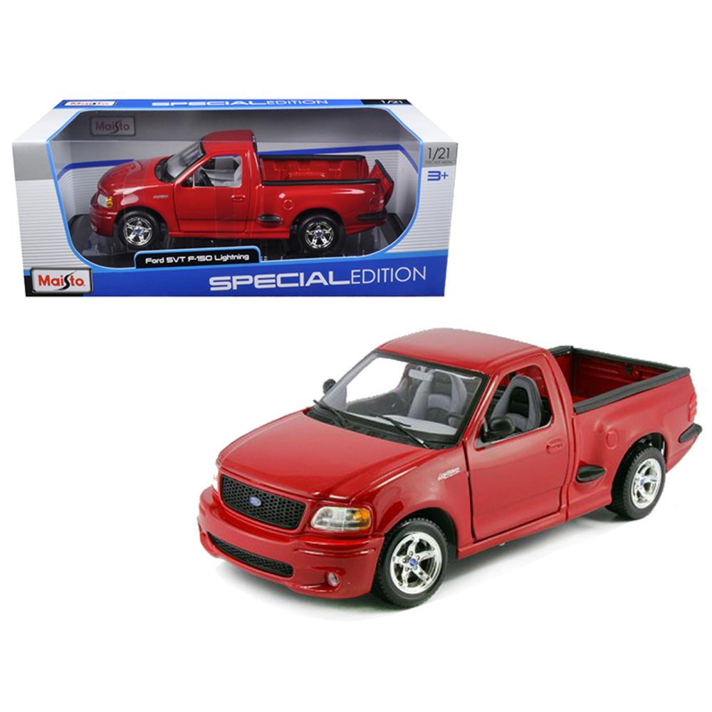 Ford F-150 SVT Lightning Red  Diecast Car Model 1/21 by Maisto 31141RD