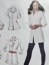 McCalls Sewing Pattern 6124 Ladies Misses Shirts Three Lengths Size 8-16 New - $17.46