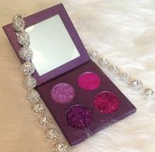 4 26mm Stunning Hand Pressed Purple & Pink Shades Glitter Eyeshadow - $25.00