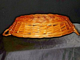 Handmade Woven Wicker Basket with Double Handles AA-191712 Vintage Collectible image 4