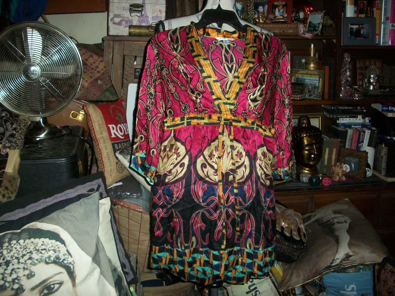 c2b1420b2a316 CAbi Eye Candy Boho Silk Blouse Size S and 14 similar items. S l1600