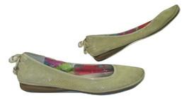 Anne Klein Sport Shoes Ballet Flats Beige Leather Womens Size 7 Animal P... - $12.86