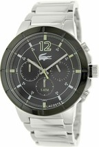 Brand New Lacoste Darwin 2010744 Chronograph Silver Stainless Steel Men's Watch - $178.19