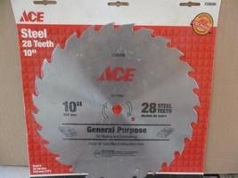 "ace 10"" combination 28 teeth steel saw blade - $7.65"