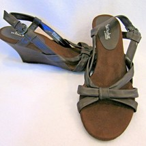 Strappy Brown Wedge Heeled Sandals 9M Whats What Aerosoles Leather Bolly... - $19.79