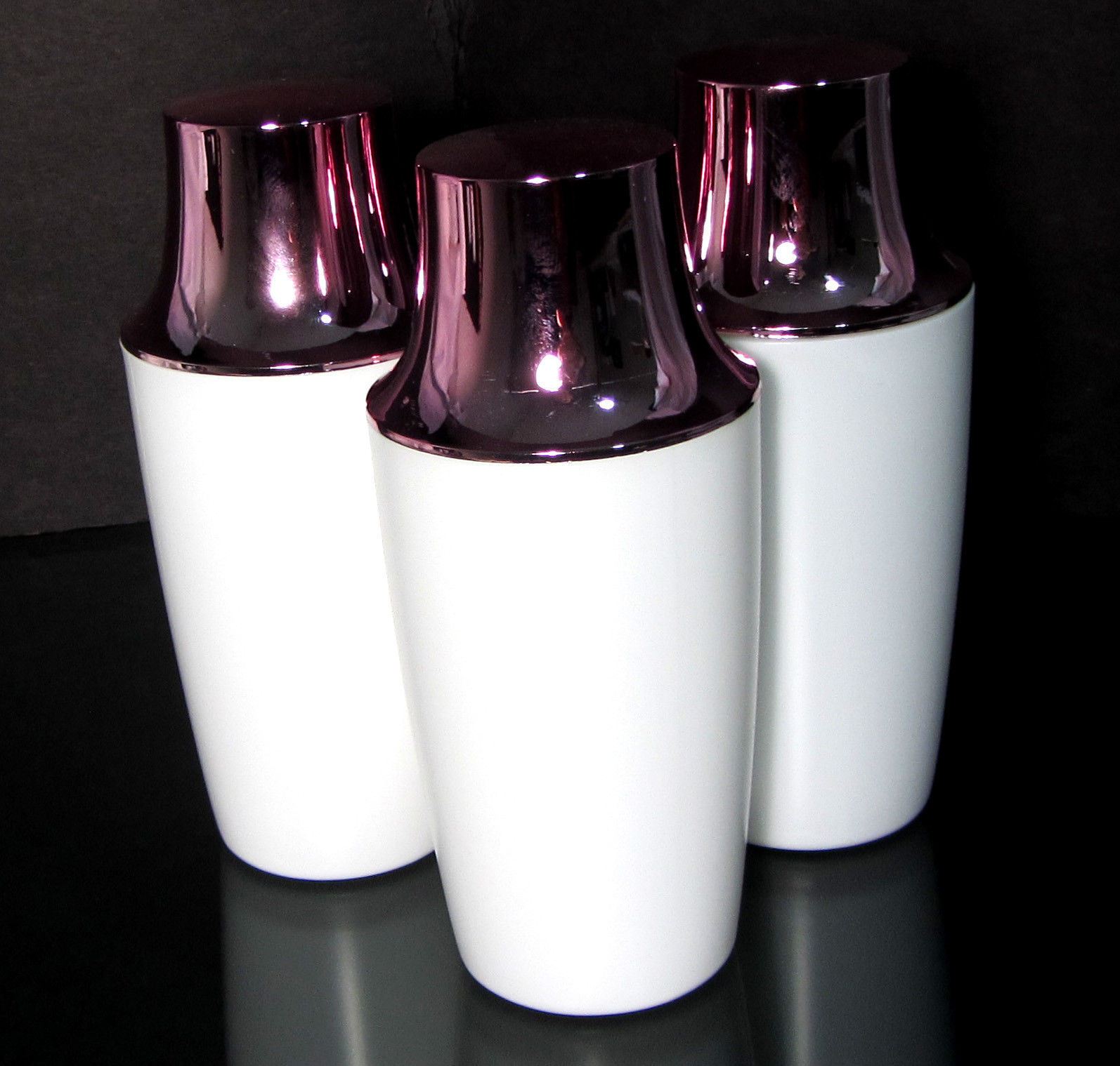 50 White Plastic Bottles Glossy Pink Cap Cosmetic Beauty Containers 8.5 oz #9328 - $67.95