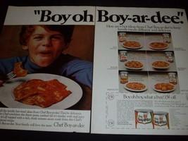 CHEF BOY-AR-DEE magazine  ads * Boyardee - $7.84
