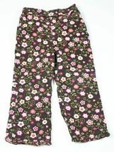 WONDERFUL WORLD OF DISNEY GIRLS 3T BROWN PINK FLORAL CORDUROY PANTS FLOWERS - $7.91