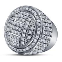 Brilliant Cut Sim Diamond 925 Sterling Silver 14k White Gold Finish Pinky Ring - $146.46