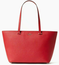 NWT Kate Spade Kristen Top Zip Tote Hot Chili Saffiano Leather Red WKRU6280 $299 - $138.99