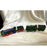 Thomas the Tank Train Wooden Railway Patchwork Hiro + Emily with Tender  - $24.99