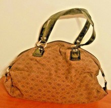 Liz Claiborne Purse Brown Double Handle Large With Logo - $19.79