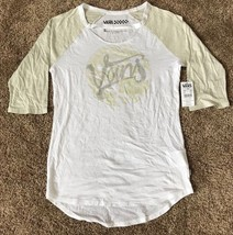 Vans Women's M Med OFF THE WALL Raglan T-Shirt Neutralize Medium White - $27.58