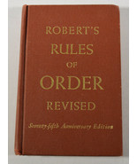 1951 Book Robert's Rules of Order Revised 75th Anniversary Edition Pocke... - $66.49