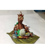 Collectible Sculpture Small Fantasy Forest Creature Handmade Polymer Cla... - $45.00