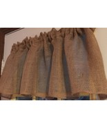 Idaho Potato Khaki  Window Curtain Valance Solid Tan Burlap fabric - $15.83