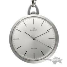 OMEGA De Ville Pocket Watch 131.1714 Manual Winding Cal.601 Silver with ... - $806.97