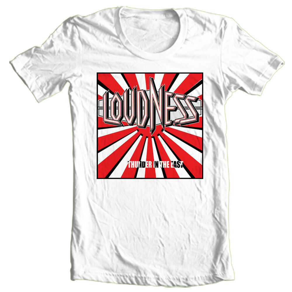 Loudness T-shirt 80s heavy metal rock band concert 100% cotton printed tee