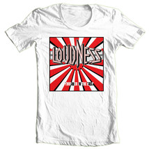 Loudness T-shirt 80s heavy metal rock band concert 100% cotton printed tee image 1