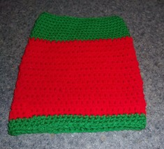 Brand New Hand Crocheted Red Green Dog Snood Neck Warmer For Dog Rescue ... - $12.74