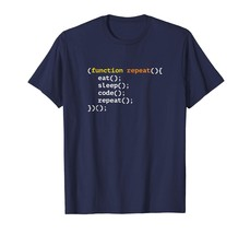 Dad Shirts - Funny Programmer Quote Eat Sleep Code Repeat T-shirt Men - $19.95+