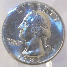1985-D Washington Quarter MS65 In the Cello #456 - $14.39