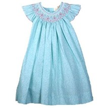 Gorgeous Ocean Aqua Petit Ami Gold Smocked Girl Dress Boutique, Angel Sl... - $52.06+
