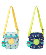 LINE Friends Dino BROWN Pattern Kids Cross Shoulder Bag(+Silicone Doll C... - $42.98