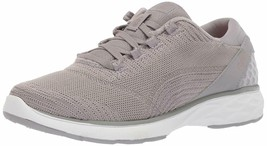 Ryka Knit Lace-Up Sneakers Walking Shoes - Lexi Grey 7.5 M - $54.44